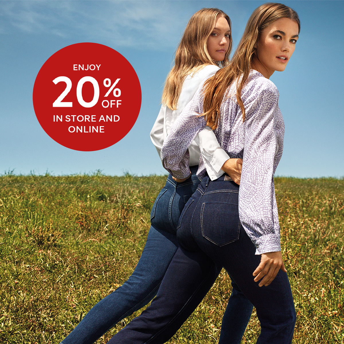 Enjoy 20% off in store and online